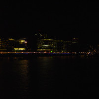 Thames Skyline at Night in London