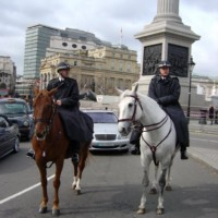 Two Bobbies on Horseback in London