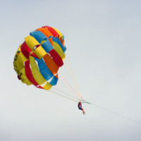 Parasailing on the Ocean