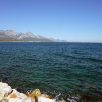 View from Antalya in direction Kemer (Turkey)