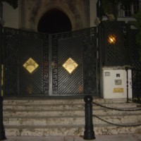 Entrance Versace Mansion in Miami at night